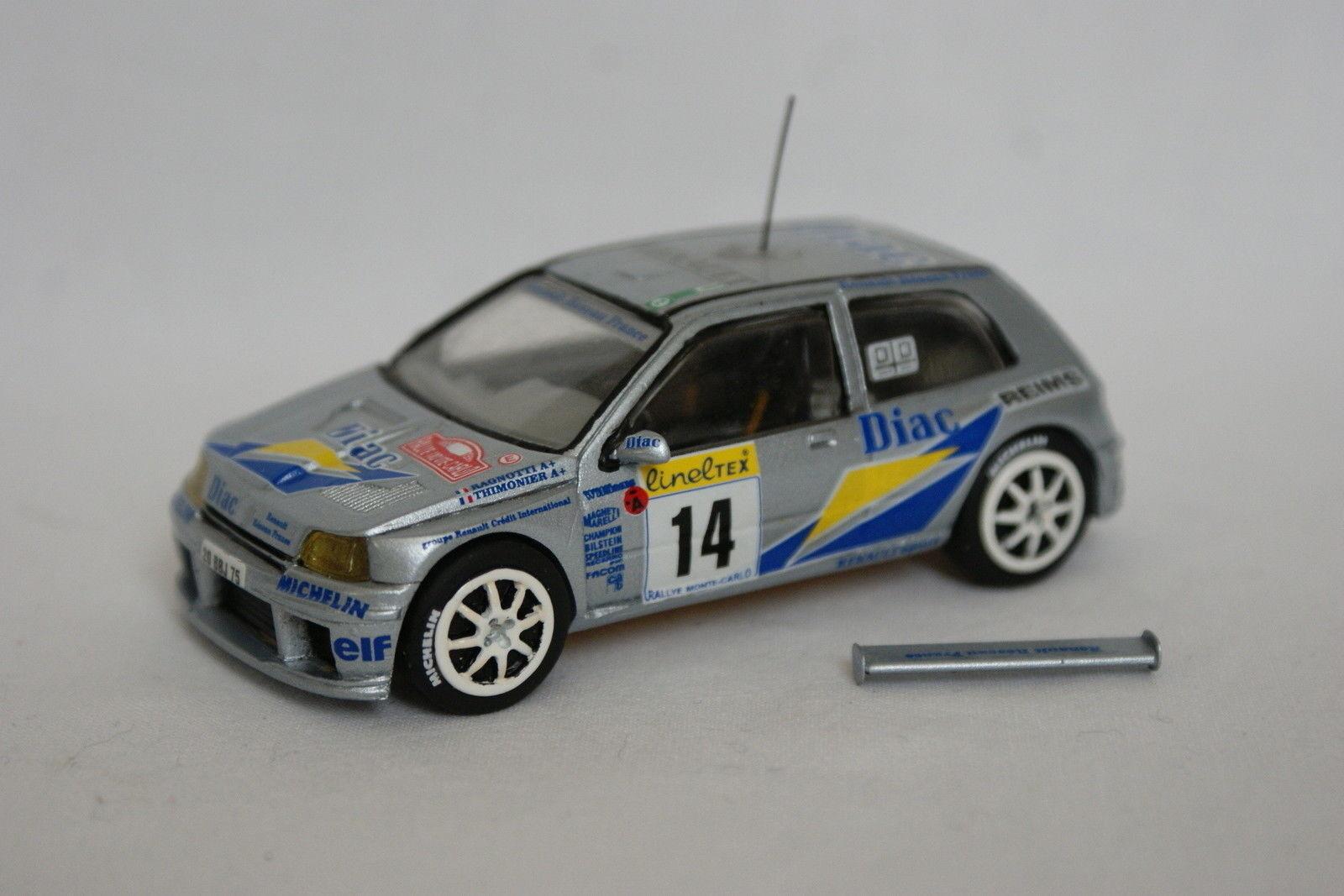 Assembled kit 1 43 - renault clio maxi rrallye monte carlo 1999