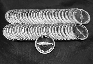 Lot-of-50-1967-Proof-Like-Uncirculated-10-cents