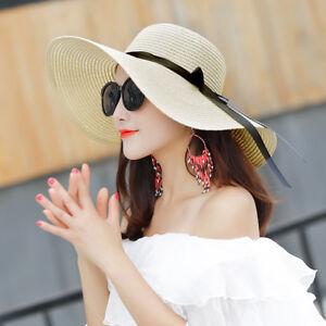aa00c30b Hot Fashion Floppy Straw Hat Women Ladies Wide Brim Beach Hat Sun ...