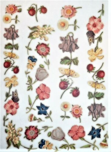 Papel De Arroz Pequeñas Flores Para Decoupage Scrapbook Y Manualidades 111