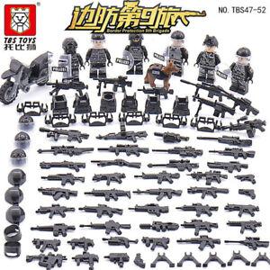Bausteine-Figur-Mini-Militaer-Soldaten-Waffen-Bausteine-Spielzeug-Toy-Gift-6PCS