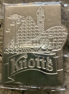 Knotts Berry Farm Roller Coaster Magnet By Pinnacle Designs Silver Tone