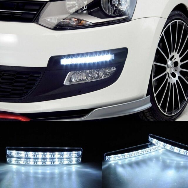 2Pcs Universal 8W 12V 8 LED Car Daytime Running Light Spot Light Driving Light