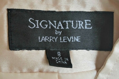 Larry Nuovo Silky Nero Beige Gonna 10 Career Tuta Levine 5q8PTS