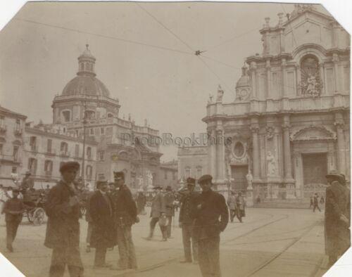 Catania-catania vor der Kathedrale Italien Italia Vintage Citrat 1911