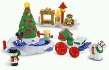Fisher Price Little People Christmas Tree Lighting Park pretzel ice pond 2014