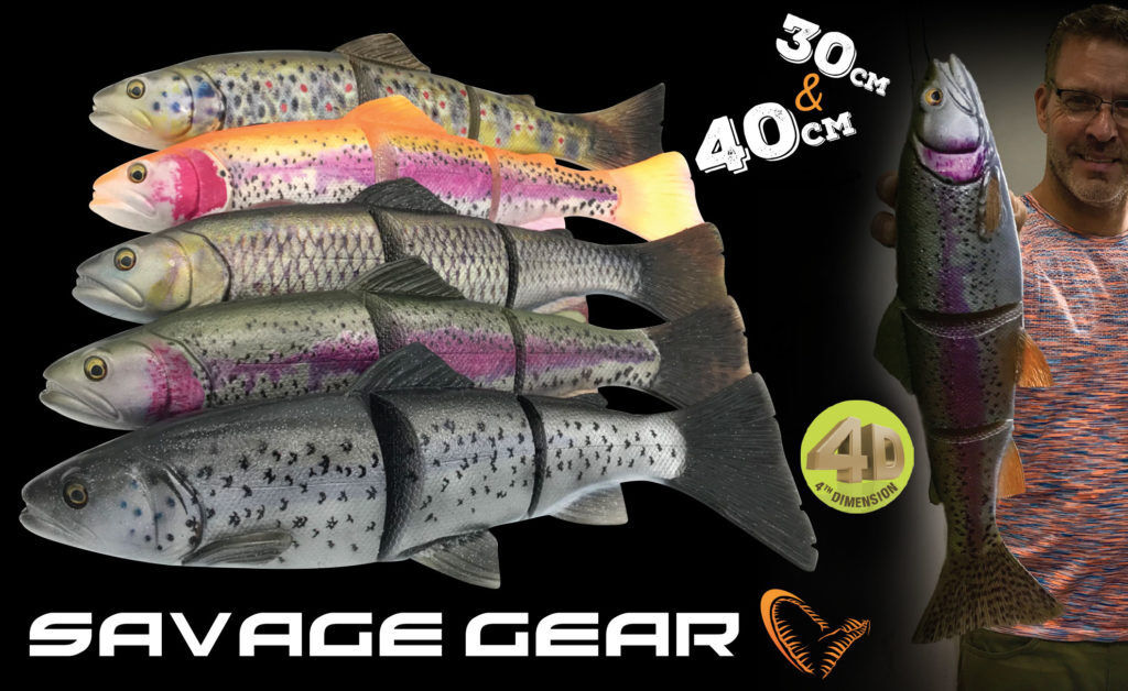 Savage Gear 4D Line Thru Trout Lure 30cm 300g MS   40cm 685g MS Predator Fishing