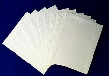 10 Double Sided Glossy Card Blanks /& Envs 107mm x 74mm Holly /& Stars NEW