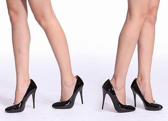 Zapatos de salón mujer De tacón 12 cm tacón de aguja en negro 8165
