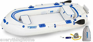 Sea-Eagle-SE9-Fisherman-s-Dream-Pkg-Inflatable-Motor-Mount-Boat-Make-Offer