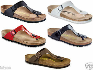 WOMENS-BIRKENSTOCK-GIZEH-CLASSIC-MOLDED-FOOTBED-TOE-POST-SANDALS-SIZES-3-8-NEW