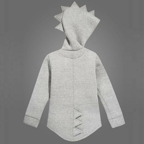Child Kids Baby Dinosaur Style Hooded Coat Boys Girl Outwear Jacket Tops Clothes