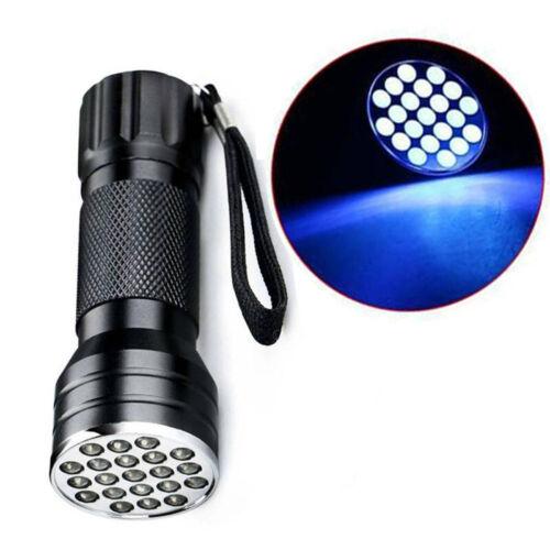UV Ultra Violet 21 LED Flashlight Blacklight light 395 Inspection Lamp Tor QSS