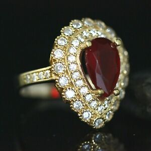 925-Sterling-Silver-Handmade-Gemstone-Turkish-Ruby-Ladies-Ring-Size-7-12