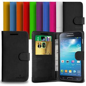 Custodia-Flip-Cover-Pelle-Portafogli-Per-Samsung-Galaxy-S4-Mini-I9190