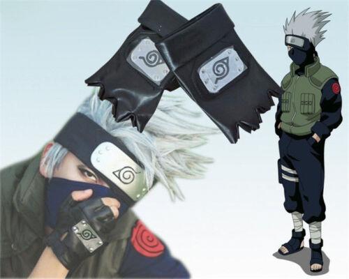 Cosplay Japan Anime Naruto Kakashi Leaf Village Ninja Logo Black Gloves Gift