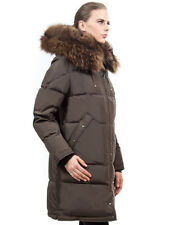 ` Down Coat Jacket Parka w/ Raccoon Fur sz XXL US 14 EU 46 $895 Пуховик Mex Енот
