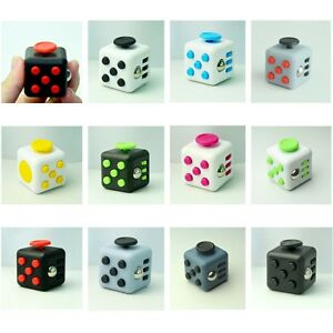Cube Magique Dé Anti-stress Fidget Cube Divertissement Soulage Stress Relaxant