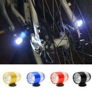 Warning Light 4 Colors 6 LED Adjustable Bicycle Bike Front Fork Head Front