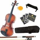 Mendini 4 MV300 Solid Wood Violin in Satin Finish w Case Extra Strings MORE