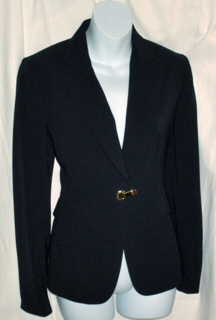 Tahari ASL Womens Black Blazer Jacket Size 4