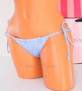 XS-X-Small-VS-VICTORIA-039-S-SECRET-Strappy-Side-Tie-Embroidery-Teeny-Bikini-Bottom