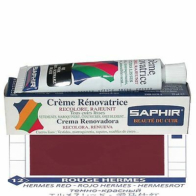 CREME CIRAGE PIGMENTAIRE RENOVATRICE CUIR SAPHIR AVEL TUBE 25 ML ROUGE HERMES 12 | eBay