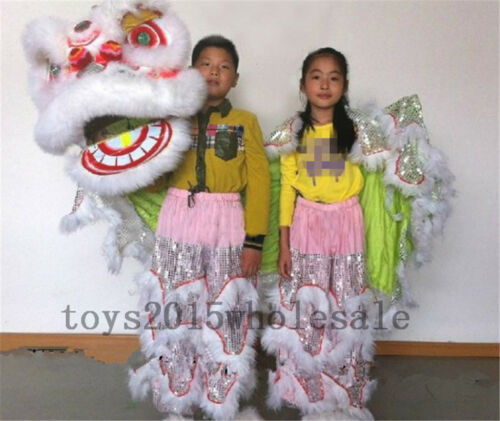 2019 Southern Lions For Two Kids Pur Lion Dance Mascot Costume Pure Wool Cosplay