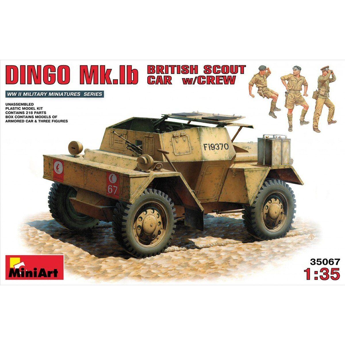 MiniArt 35067 British Scout Car DINGO MkIb with crew 1 35 scale model kit