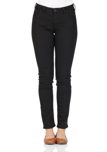 Slim Fit Schwarz Black Rinse Lee Damen Jeans Elly