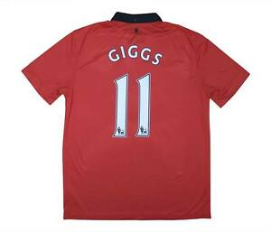 Manchester United 2013-14 Authentic Home Shirt GIGGS #11 (eccellente) L