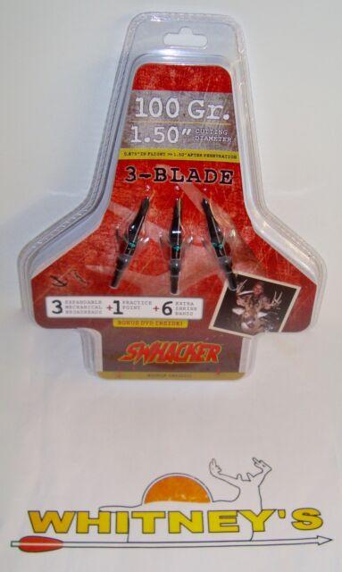 Swhacker 3-Blade 100 grain 3 pack Broadheads w// Practice Head SW225