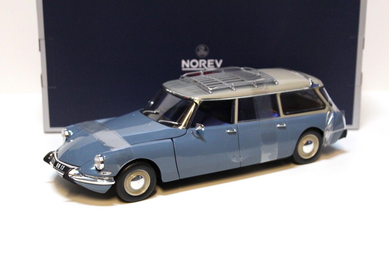 1:18 Norev Citroen ID 19 BREAK 1967 Blue New chez Premium-modelcars | De Nouveau Modèle