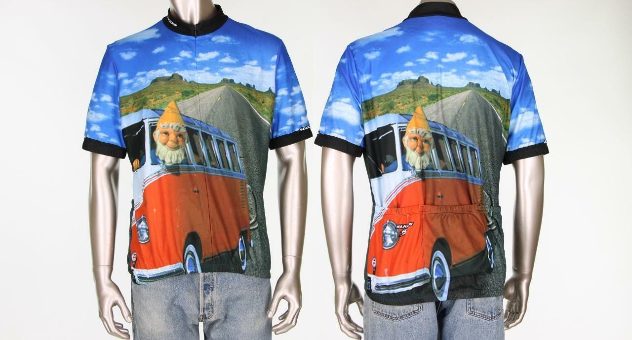 Sugoi Gnome VW Volkswagen Bus Van Cycling Bicycle Bike Jersey XXL