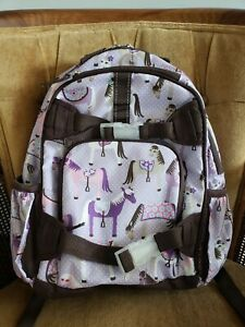 Pottery Barn Kids Lavender Backpack W Horses Pattern