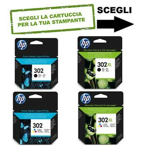 CARTUCCIA-ORIGINALE-HP-302-302XL-Nero-e-o-colori-Envy-Officejet-Deskjet-AIO