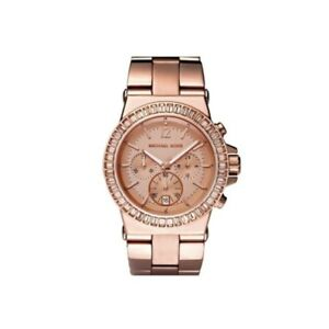 Michael kors mk6213 dylan rose gold glitz womens watch ebay image is loading michael kors mk6213 dylan rose gold glitz women gumiabroncs Choice Image