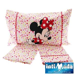 Lenzuola Principesse Disney Completo Letto Singolo Set 3 pezzi puro cotone 100/%