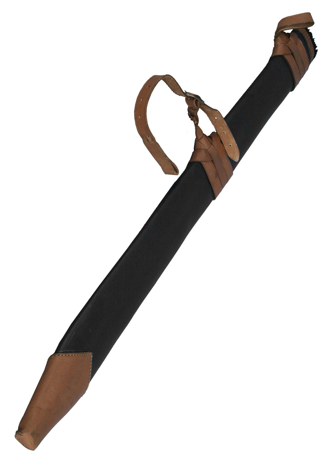 Leather scabbard, large, left-handed, medieval LARP SCA cosplay costume gear kit