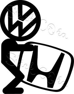 Autocollant sticker Volkswagen vw german look ref vw30