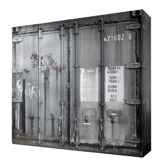 Kleiderschrank Container 237 Cm Schrank Schlafzimmer Grau Ebay