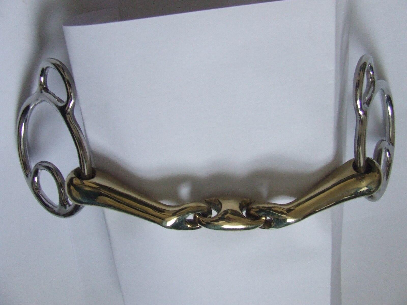 Angled Mouthpiece Brass with Beval with Brass lozenge Wilkie Bit 5.5