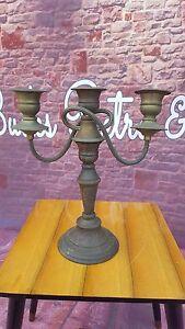 Antique-Vintage-Twisted-Allander-Silver-on-Copper-Candelabra-Candlestick-Holder
