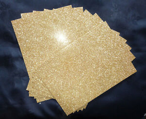 10-x-Glitter-Card-A6-C6-250gsm-High-Quality-Card-Sparkling-GOLD-DEFECTS
