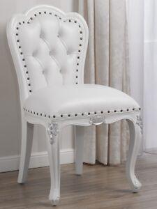 Poltrone In Plastica Stile Barocco.Poltrona Josephine Stile Barocco Moderno Bianco Laccato E Foglia
