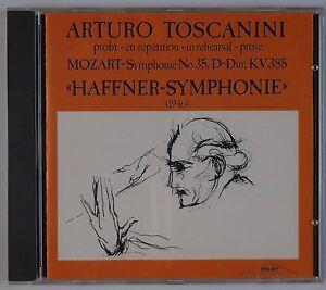 TOSCANIN-Mozart-Haffner-Symphony-46-Relief-Live-Recording-IMPORT-CD