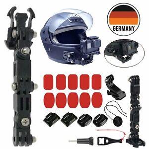Adhesive-Helmet-Chin-Mount-Halter-Helm-Halterung-Fuer-Gopro-Hero-6-5-4-3-Kamera