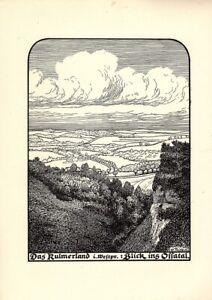 Kulmerland-Osa-Tal-alte-Ansicht-Druck-1920-Staedteansicht-Westpreussen-Culmer-Land