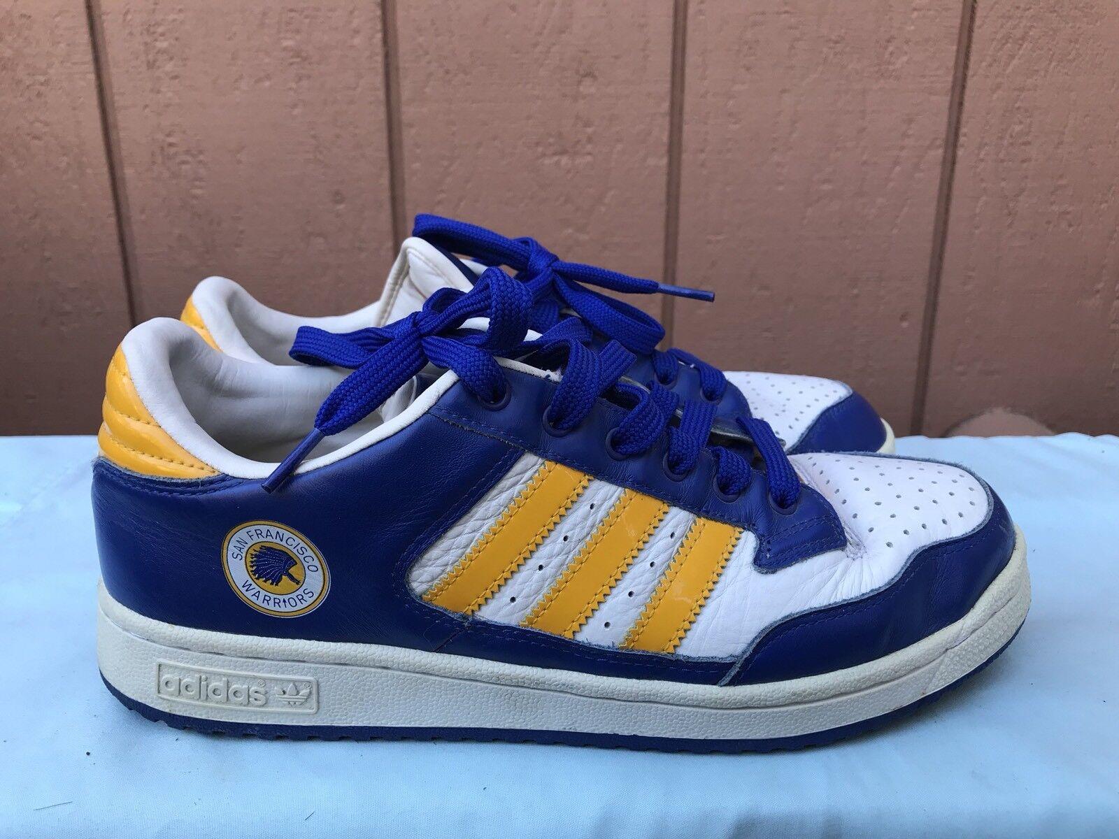 RARE EUC Adidas San Francisco WARRIORS US 9.5 Sneakers NBA Retro golden State A2