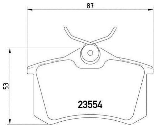Mdb1382 M1155 Mintex Set Plaquettes de Frein Disque de Frein Arrière